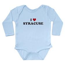 I Love Syracuse New York Long Sleeve Infant Bodysu