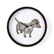 Speckled Dachshund Dog Wall Clock