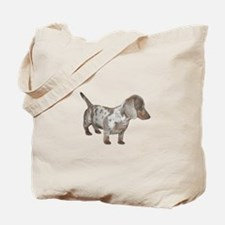 Speckled Dachshund Dog Tote Bag
