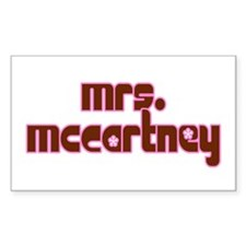 Mrs. McCartney / Personalized for you! Decal