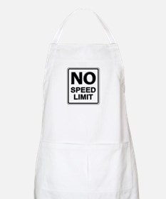 No Speed Limit Sign BBQ Apron