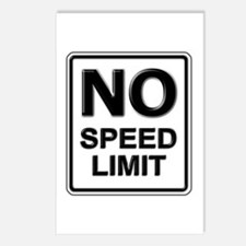 No Speed Limit Sign Postcards (Package of 8)
