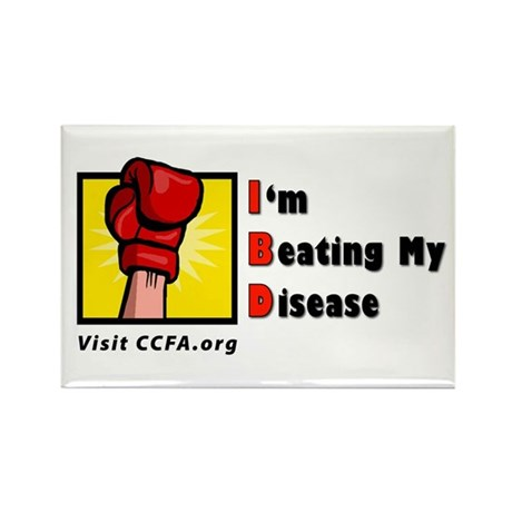 I'm Beating My Disease Rectangle Magnet (10 pack)