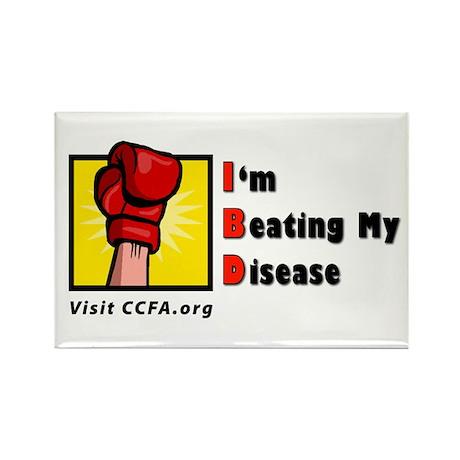 I'm Beating My Disease Rectangle Magnet