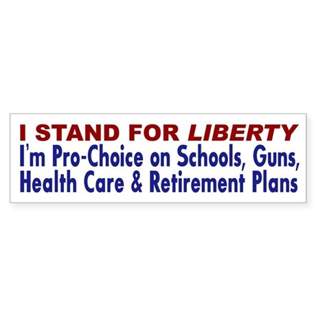Stand for Liberty Bumper Sticker