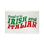 Proud to be Irish and Italian Rectangle Magnet
