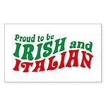 Proud to be Irish and Italian Sticker (Rectangular