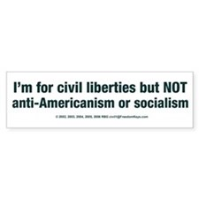 Sane Civil Libertarian's Bumper Bumper Sticker