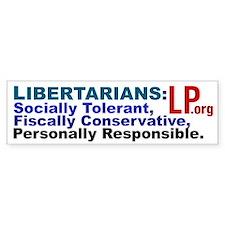 Tolerant & Responsible Bumper Bumper Sticker
