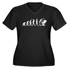 BBQ Women's Plus Size V-Neck Dark T-Shirt