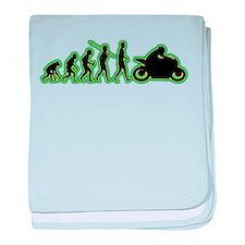 Bike Rider baby blanket
