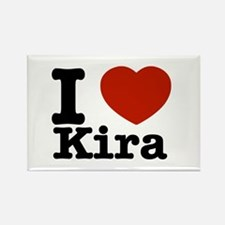 I Love Kira Rectangle Magnet