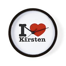 I Love Kirsten Wall Clock