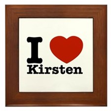 I Love Kirsten Framed Tile