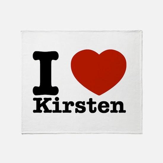 I Love Kirsten Throw Blanket