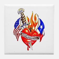 Texas Arm Tattoo Tile Coaster