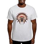 Native War Bonnet 03 Light T-Shirt