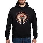 Native War Bonnet 03 Hoodie (dark)