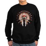 Native War Bonnet 03 Sweatshirt (dark)