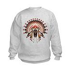 Native War Bonnet 03 Kids Sweatshirt