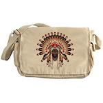 Native War Bonnet 03 Messenger Bag
