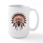 Native War Bonnet 03 Large Mug