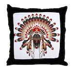 Native War Bonnet 03 Throw Pillow