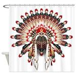 Native War Bonnet 03 Shower Curtain