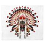 Native War Bonnet 03 King Duvet