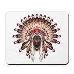 Native War Bonnet 03 Mousepad