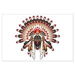 Native War Bonnet 03 Large Poster