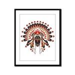 Native War Bonnet 03 Framed Panel Print