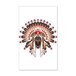 Native War Bonnet 03 35x21 Wall Decal
