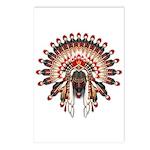 Native War Bonnet 03 Postcards (Package of 8)