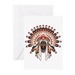 Native War Bonnet 03 Greeting Cards (Pk of 10)