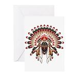 Native War Bonnet 03 Greeting Cards (Pk of 20)