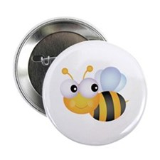 """Bee 2.25"""" Button (100 pack)"""
