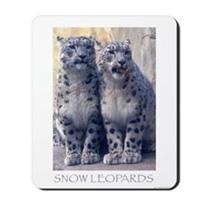 Twin Snow Leopard Cubs Mousepad