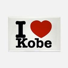 I Love Kobe Rectangle Magnet