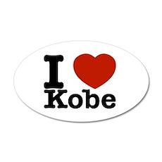 I Love Kobe 20x12 Oval Wall Decal