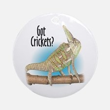 Chameleon Got Crickets? Ornament (Round)