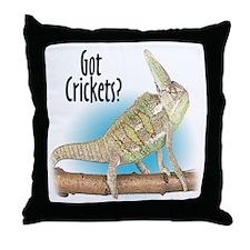 Chameleon Got Crickets? Throw Pillow