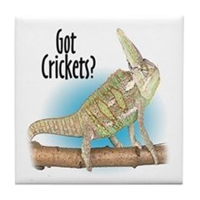 Chameleon Got Crickets? Tile Coaster