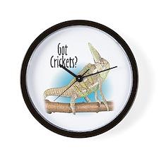 Chameleon Got Crickets? Wall Clock