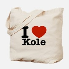 I Love Kole Tote Bag