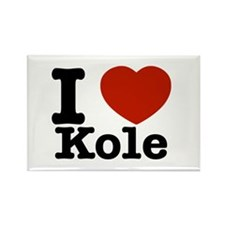 I Love Kole Rectangle Magnet