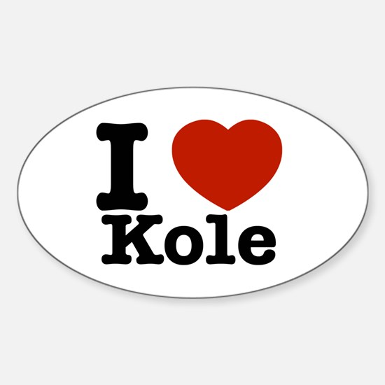 I Love Kole Sticker (Oval)