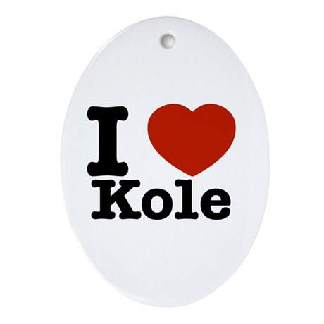 I Love Kole Ornament (Oval)