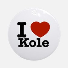 I Love Kole Ornament (Round)