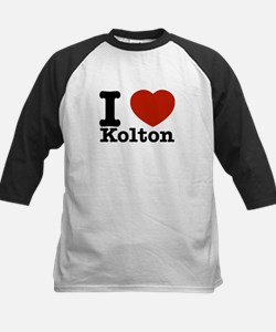 I Love Kolton Kids Baseball Jersey